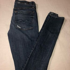 7 For All Mankind Roxanne Skinny Jean Size 27